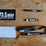 Decal, window cling, pen, chapstick and lanyard for radio promtion