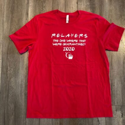 relay for life red fundraising shirt