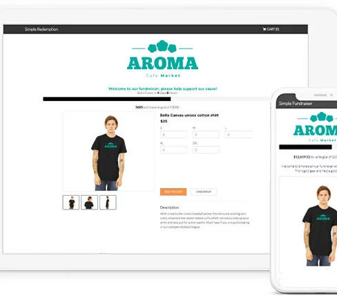 popup fundraising apparel store